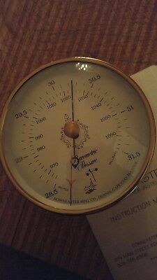 Downeaster Solid Brass Barometer