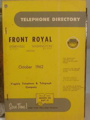 1962 Front Royal-Sperryville-Washington, Virginia Telephone Directory-Genealogy