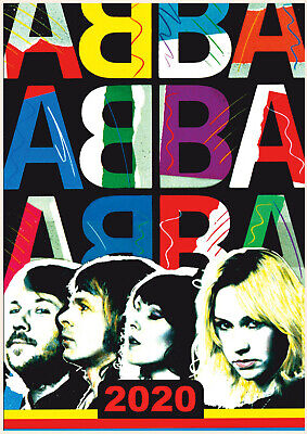 Wall Calendar 2019 [12 pages A4] ABBA Vintage Music Posters M956