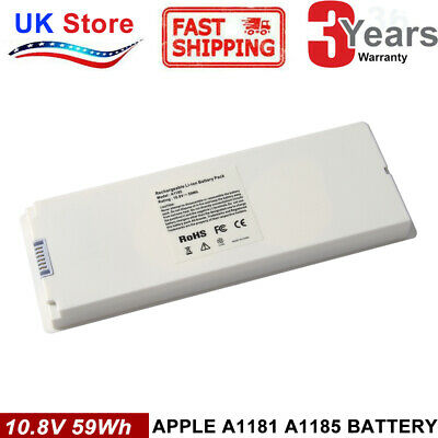 """A1185 Battery for Apple MacBook 13"""" A1181 2006-2009 (60Wh 10.8V) White"""