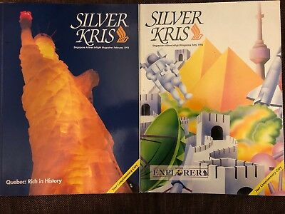 Two Singapore Airlines inflight magazines, 1993-1994