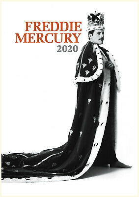 Wall Calendar 2019 [12 pages A4] Freddie Mercury Queen Music Photo Poster M1177