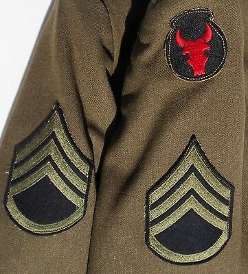 Orig Us Army Wwii Ike Jacket 34Th Division Staff Sergeant 40S Dated June 9 1944