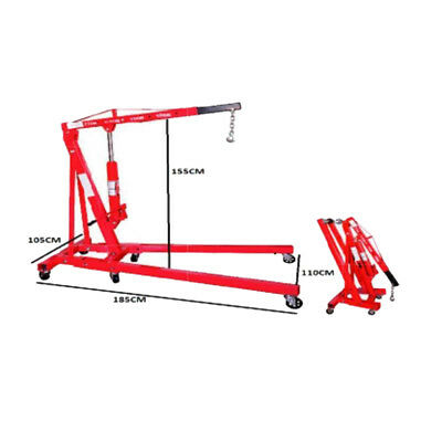 New HYDRAULIC ENGINE CRANE FOLDING 1.25 TON Hoist Lift Workshop Garage Tool