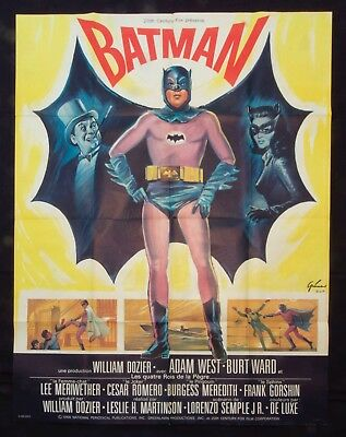 BATMAN 1966 Original French Grande 45x61 Movie Poster Adam West Burt Ward