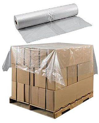 500 Large Clear Plastic Polythene Sheets/Covers For Pallet Top Base ...
