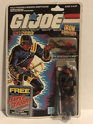 1988 IRON GRENADIERS REAL AMERICAN HERO SERIES HASBRO GI JOE MISB 34Back MOC AFA