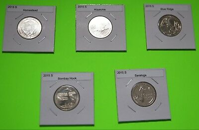 2015 S America The Beautiful Quarters(ATB) 5 Coin Set-Mint Bags-Free Shipping