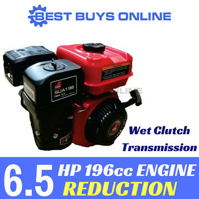 6.5HP PETROL ENGINE OHV Stationary Motor 4 Stroke Horizontal Shaft Wet Clutch
