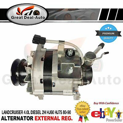Landcruiser HJ61 Alternator For Toyota 86-91 12HT 6 Cylinder 4.0L Turbo Diesel