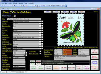 Stamp Collectors Image Database Software Pro Version suit Windows **HALF PRICE**