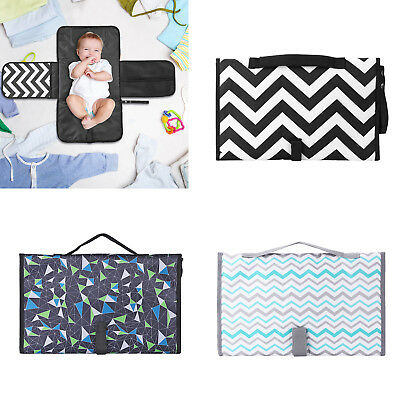Waterproof Baby Diaper Changing Mat Pad Geometric Print Portable Outdoor Travel