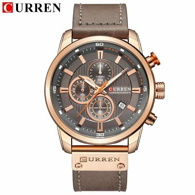Curren Mens Luxury Multifunctional Chronograph Watch - US Seller!
