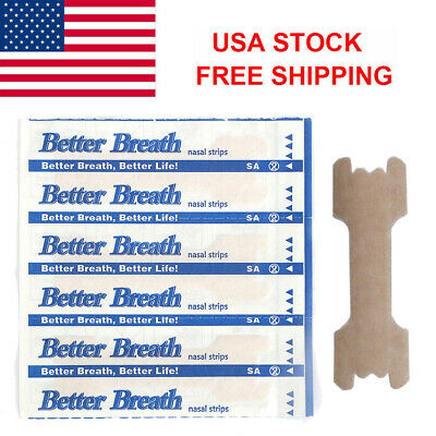 120X Better Breath Nasal Strips Anti Snoring Sleeping Aid Clear Stop Snore Large