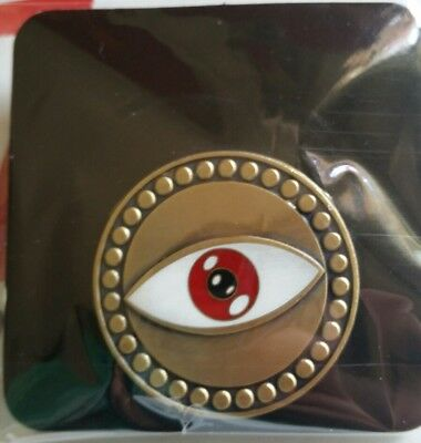 """Rare EYE OF AGAMOTTO PIN 1.5"""" Doctor Strange Marvel Unlimited Plus Exclusive MCU"""