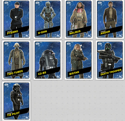 Topps Star Wars Card Trader Rogue One Challengers 9 Card Space Set Wave 2