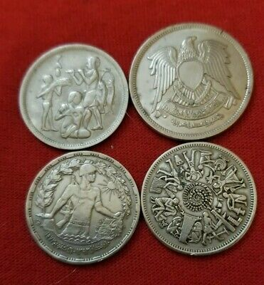 4 coins from Egypt each 10 PIASTRES