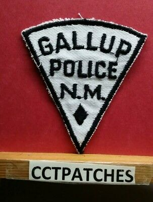 Vintage Gallup, New Mexico Police Shoulder Patch Nm
