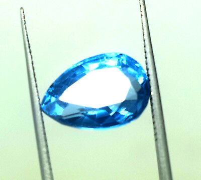 8.05 Ct Natural Blue Color Transparent Aquamarine Pear Cut Ggl Certified