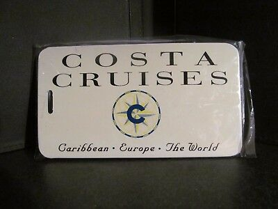 COSTA CRUISE LINE new LUGGAGE TAG baggage label Hard Plastic airline