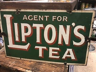 Lipton's Tea Genuine Enamel Sign