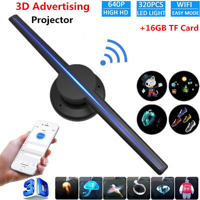 42cm Hologram Projector Fan WiFi 3D 320 LED Holographic Advertising Displayer GM
