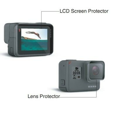 Tempered Glass LCD Screen and lens Protect Film For Gopro Hero 7 6 5 black