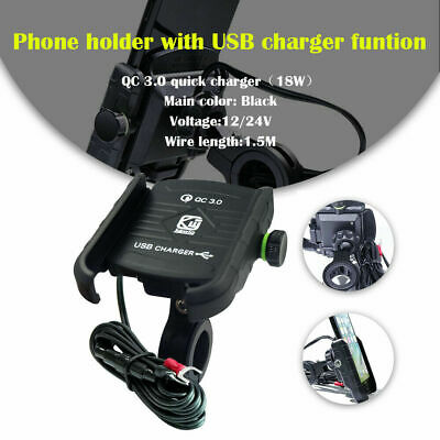 Motorcycle Phone Holder USB Charger For Honda Goldwing GL1800 1500 1100 1200