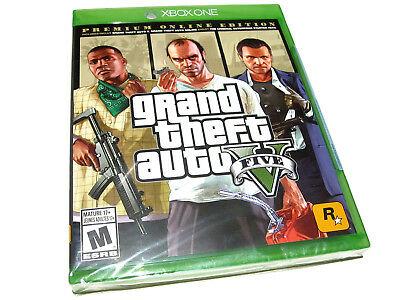 Grand Theft Auto V: Premium Online Edition (Microsoft Xbox One) GTA 5 - NEW!