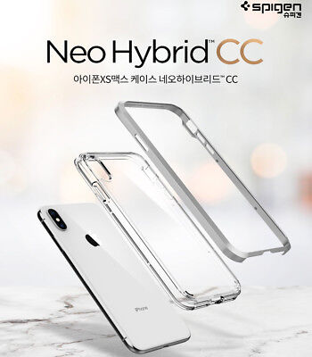 Spigen Neo Hybrid CC Slim Bumper Protective Clear Cover For iPhone X XS Max Case