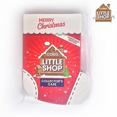 NEW Coles LITTLE SHOP Minis COLLECTORS CASE Christmas Edition