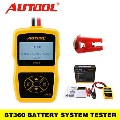 Autool BT360 Battery System Tester Car Charging Analyzer For 12V Standard Car
