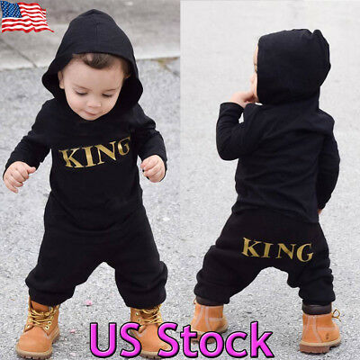 New Newborn Infant Baby Boy Kid King Romper Jumpsuit Bodysuit Clothes Outfits