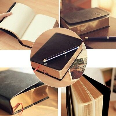 Vintage Thick Paper Notebook Notepad Diary Book Zakka Journals Agenda Planner