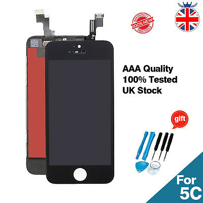 Black For iPhone 5C LCD Touch Screen Display Digitizer Replacement Original IC