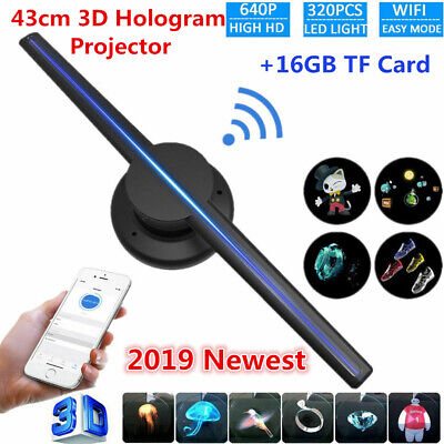 3D 320 LED WiFi Holographic Projector Display Fan Hologram Player Advertising