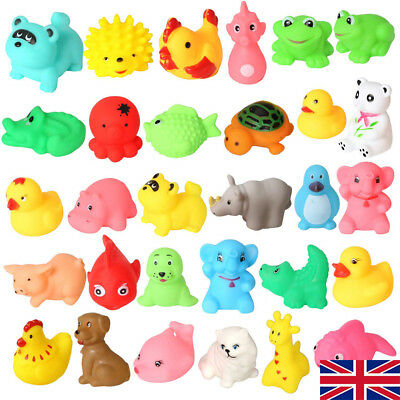 UK Animal Child Baby Kids Bath Toy Rubber Float Squeeze Sound Wash Bath Swim OR
