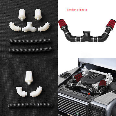 1 xSimulated Engine Single//Double Intake Air Filter Kit For 1//10 RC Crawler TRX4
