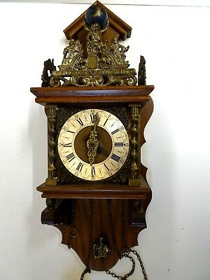 Vintage NU ELCK SYN SIN Wall Clock made in Holland-German Movement