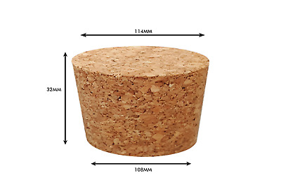 Tapered Natural Cork Stoppers Bungs Bottle Homebrew Beer Wine 108mm dia Bottom