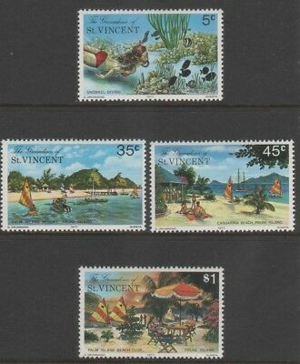 St. Vincent The Grenadines 1977 Palm Beach Prune Isle #123-126 Gpo Presentation