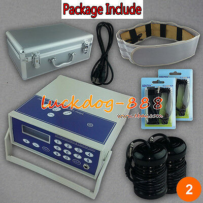 Ion Ionic Detox Foot Spa Cleanse Aqua Cell Bath Machine Fir Belt Aluminum Box