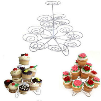 3Tier Cake Cupcake Plate Stand Handle Wedding Party Decor High Tea Cake Stand JU