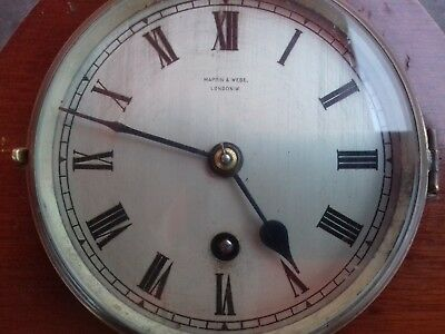 Mappin & Webb antique 8 day wooden mantle clock