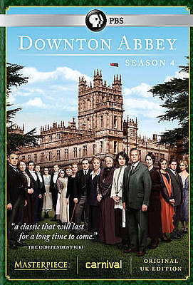 *BRAND NEW - FACTORY SEALED* Downton Abbey: Season 4 (DVD, 2014, 3-Disc Set)