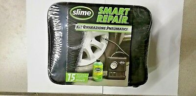 Kit Riparazione Pneumatici Slime Smart Repair Compressore 12V + Liquido 473Ml