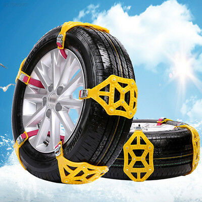 88C4 TPU Accessories Universal Anti-Skid Chains Roadway Safety Yellow