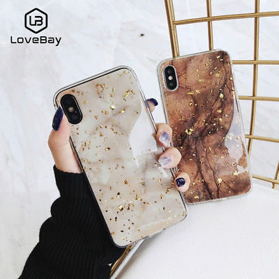 Luxury Bling Marble Soft Silicone TPU Case Cover For iPhone XS Max XR 8 6 7 Plus