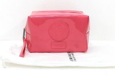 Versace Pink Patent Cosmetic Pouch / Make-Up Bag With Dust Bag *new
