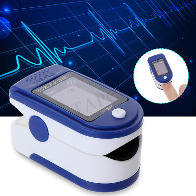 2018 Finger Pulse Oximeter Spo2 Monitor Heart Pulse Rate Blood With Led Display